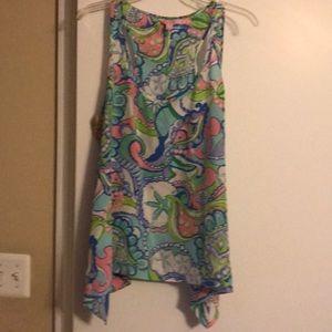 Lilly Pulitzer silk shirt size XL